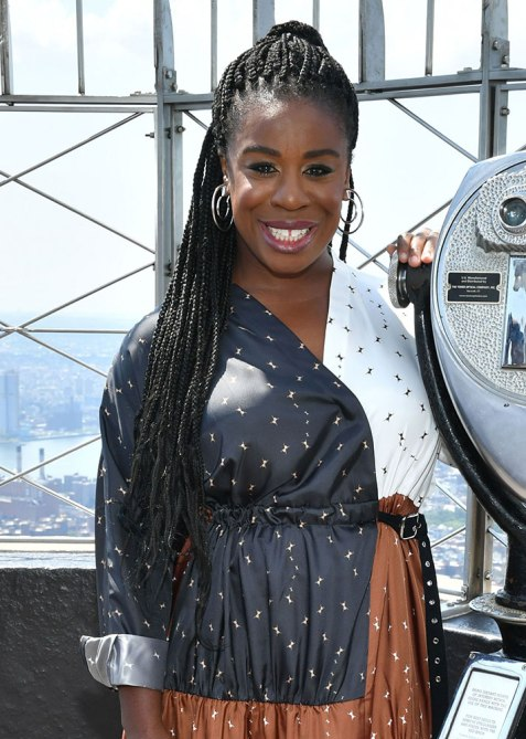 half up half down uzo aduba Trend Alert: Celebs Cant Stop Wearing the Half Up, Half Down Hairstyle