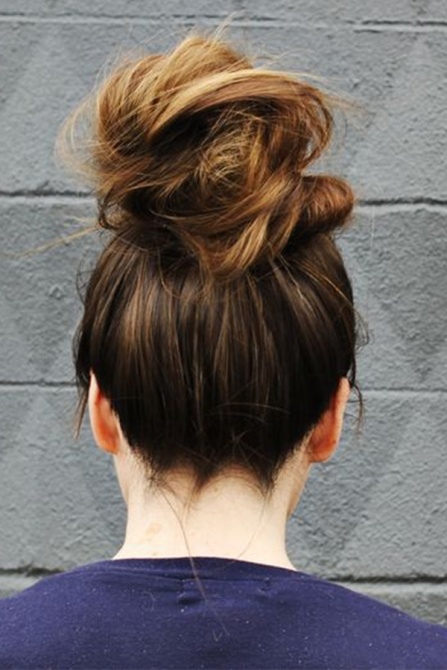 messy bun 3 How to Style a Messy Bun That Still Looks Put Together On Your Laziest Day