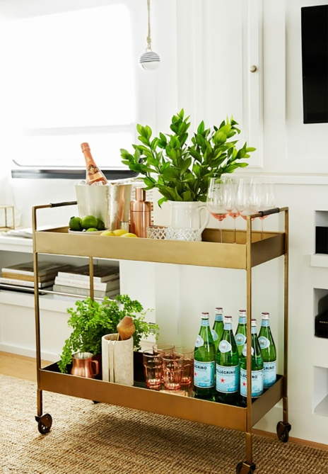Literally Just 29 Of The Prettiest Bar Carts We Ve Ever Seen Stylecaster