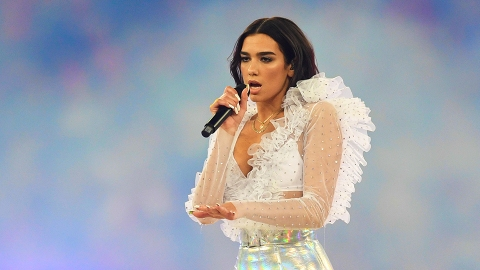 Dua Lipa Matching the Art Installation She's Posing in Front of Is Sheer Instagram Goals | StyleCaster