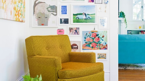 Make Your Home Feel Like a Museum with These 21 Gallery Wall Templates | StyleCaster