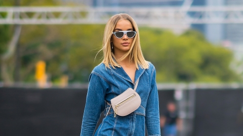 Jasmine Sanders Makes Over-the-Boob Fanny Packs Look Surprisingly Chic | StyleCaster