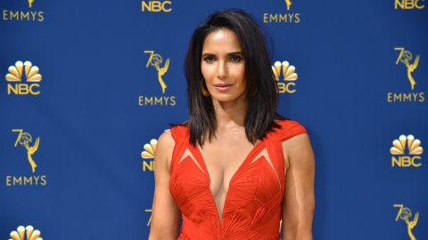 Padma Lakshmi Recycles a Red Evening Gown at the 2018 Emmys | StyleCaster