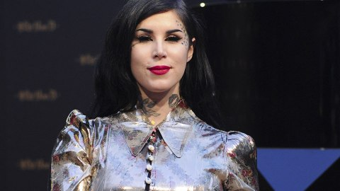Kat Von D Got a Seriously Large Black-Out Arm Tattoo | StyleCaster