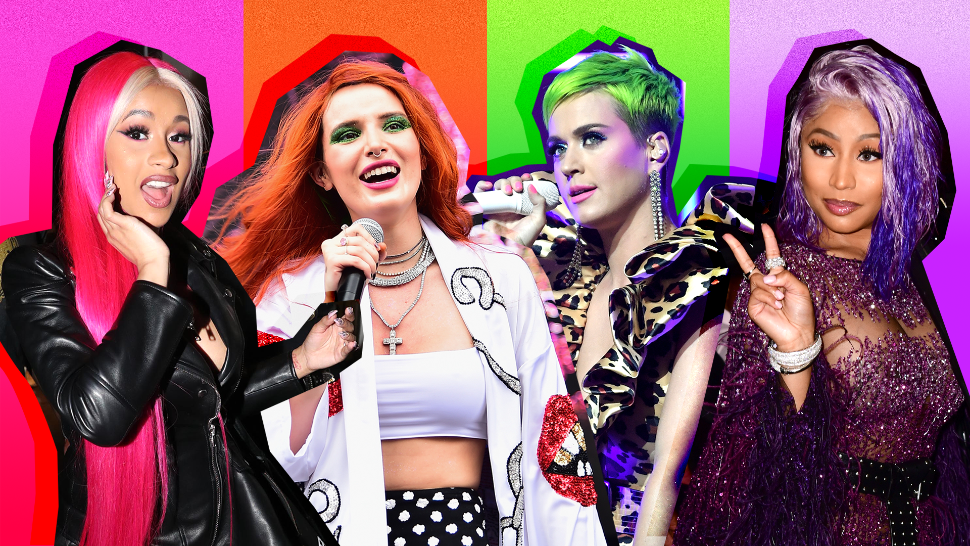 Celebrities with Neon Hair
