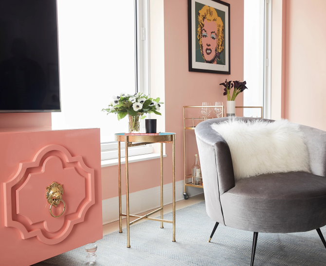 screen shot 2018 09 11 at 9 49 19 am Ashley Bensons Apartment Is a Millennial Pink Paradise