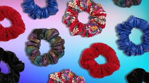 Stylish Scrunchies for Upgrading Your Basic Ponytail   StyleCaster