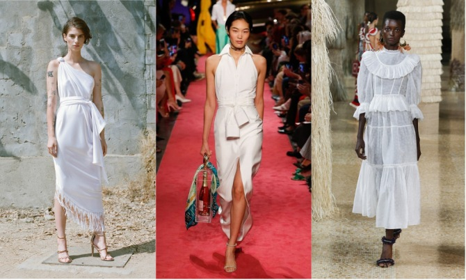 white dress The Top 10 Trends from New York Fashion Week 2018