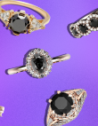 27 Black Wedding Rings Perfect for October Brides
