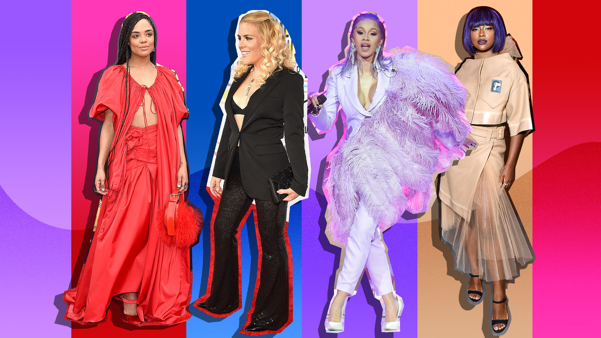 Celebrities in Color-Coordinated Outfits
