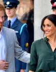 Meghan Markle's Teal Leather Pencil Skirt Is the Edgy Basic We Didn't Know...