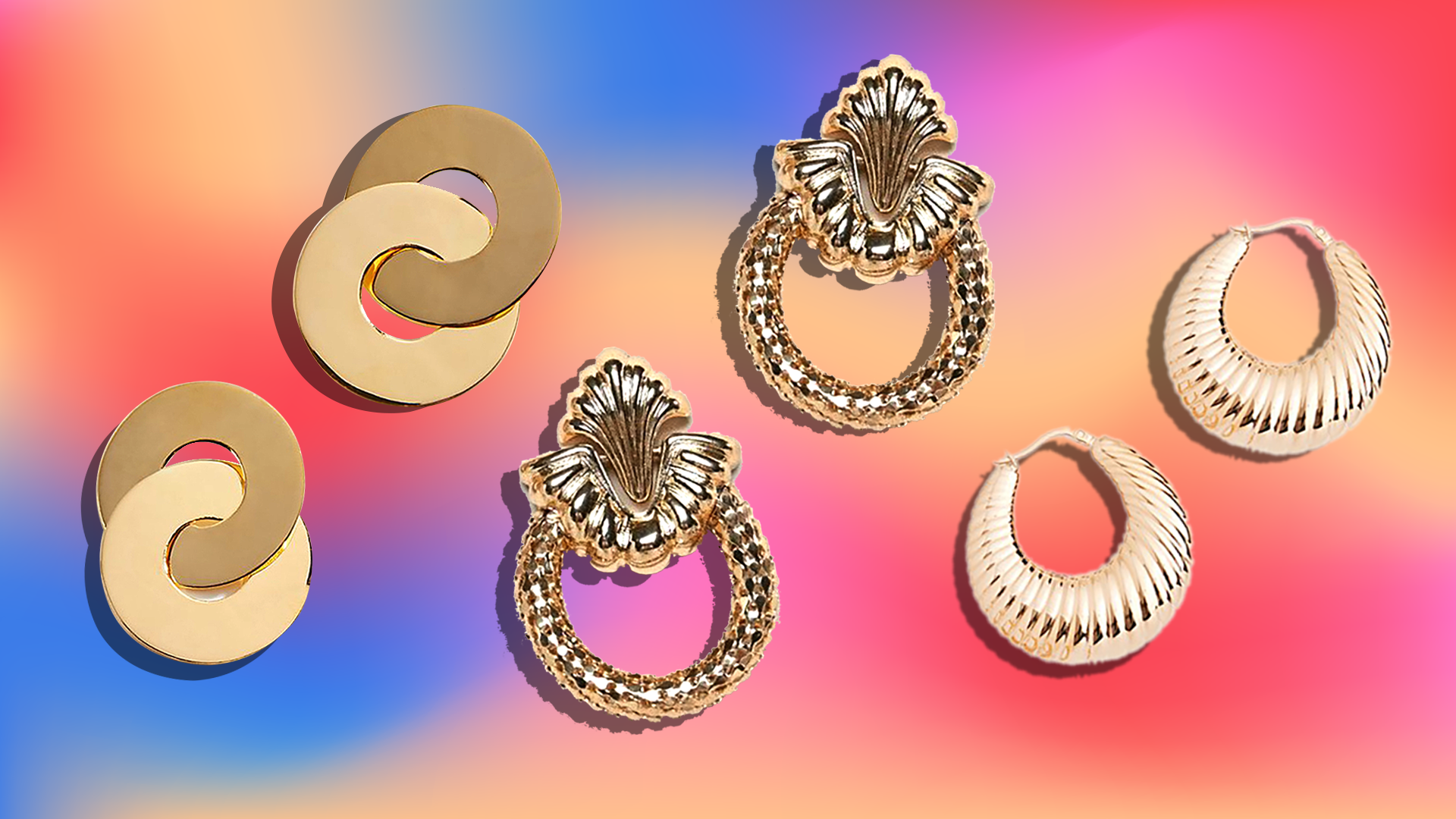 This Fall, Stores Are Full of Chunky Gold Earrings that Look Like They Belong in Another Decade