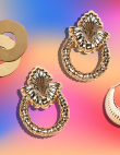 This Fall Is Full of Chunky Gold Earrings That Look Like They Belong in Another...