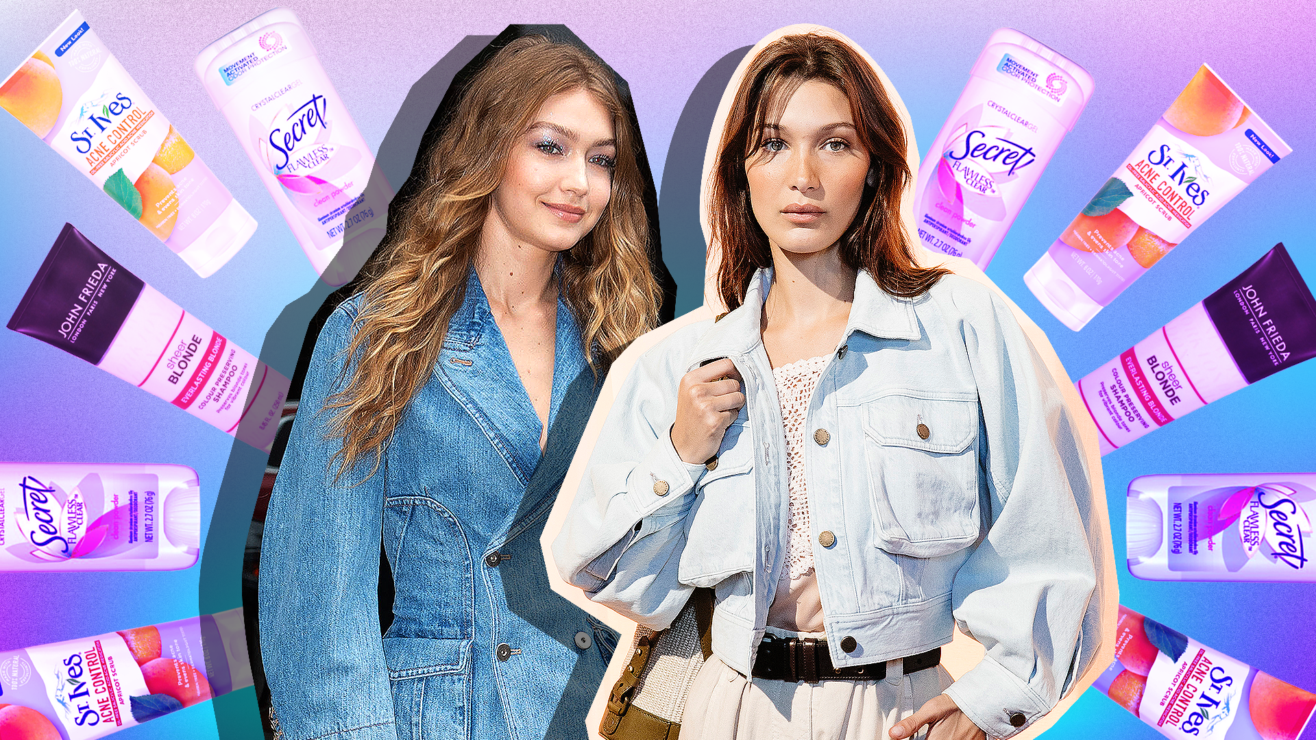 Gigi and Bella Hadid's Favorite Drugstore Products