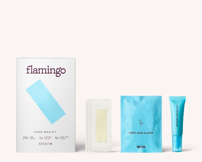 mediagallery facewaxkit1 Flamingo is the At Home Hair Removal Brand Weve Been Waiting For