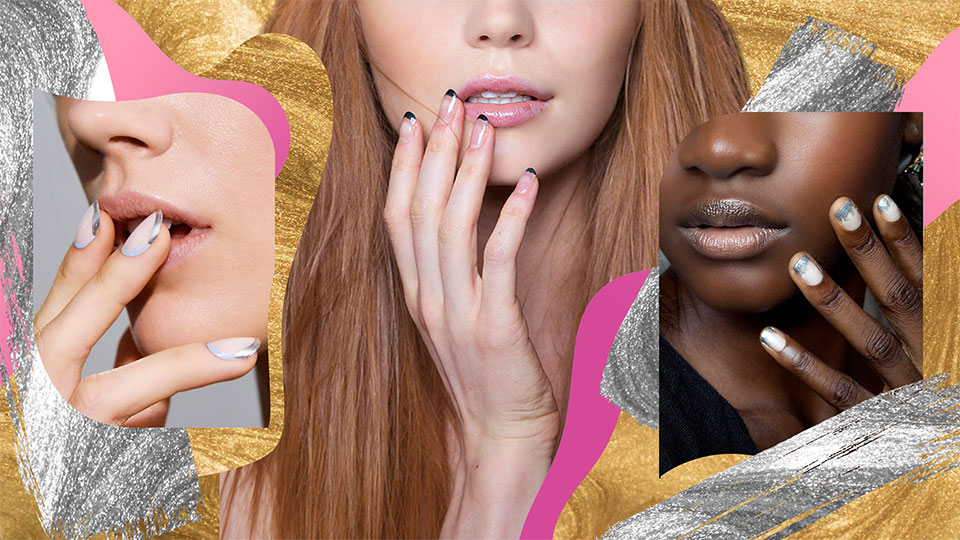 12 Ways to Accent Your Classic French Manicure With Metallics
