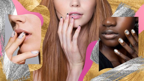 How to Update Your Classic Manicure With Metallics | StyleCaster