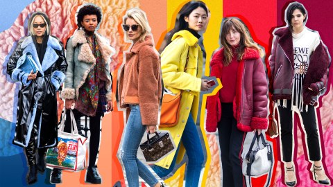 24 Colorful Ways to Wear Shearling This Season | StyleCaster