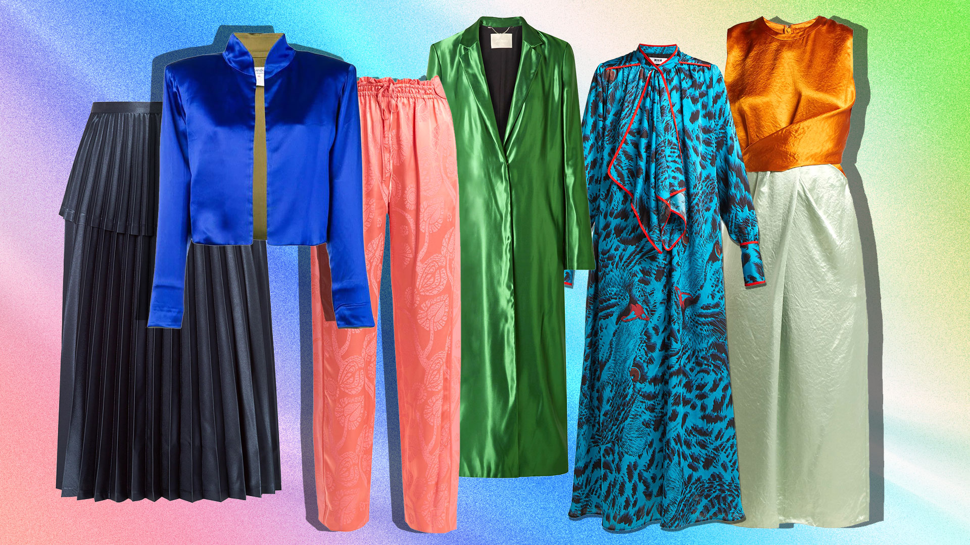 Silk Satin Pieces Are the Easiest Way to Vary a Heavy Fall Wardrobe