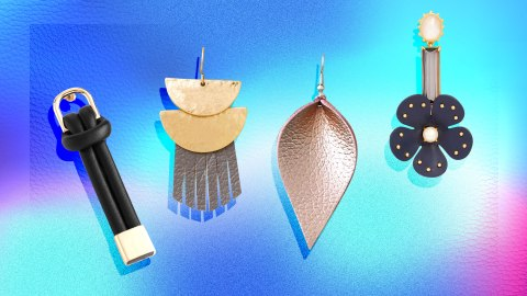 Leather Earrings Are the Underrated Statement Piece Your Jewelry Collection Needs | StyleCaster
