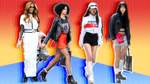 17 Surprising Ways to Style Your Favorite Fishnets | StyleCaster