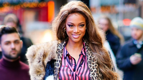 Tyra Banks Models Maximalism in Stripes, Plaid and Animal Prints | StyleCaster