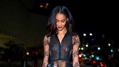 Model Chantal Monaghan's Lace Dress Is the Chicest Way to Show Off Your Favorite Lingerie | StyleCaster