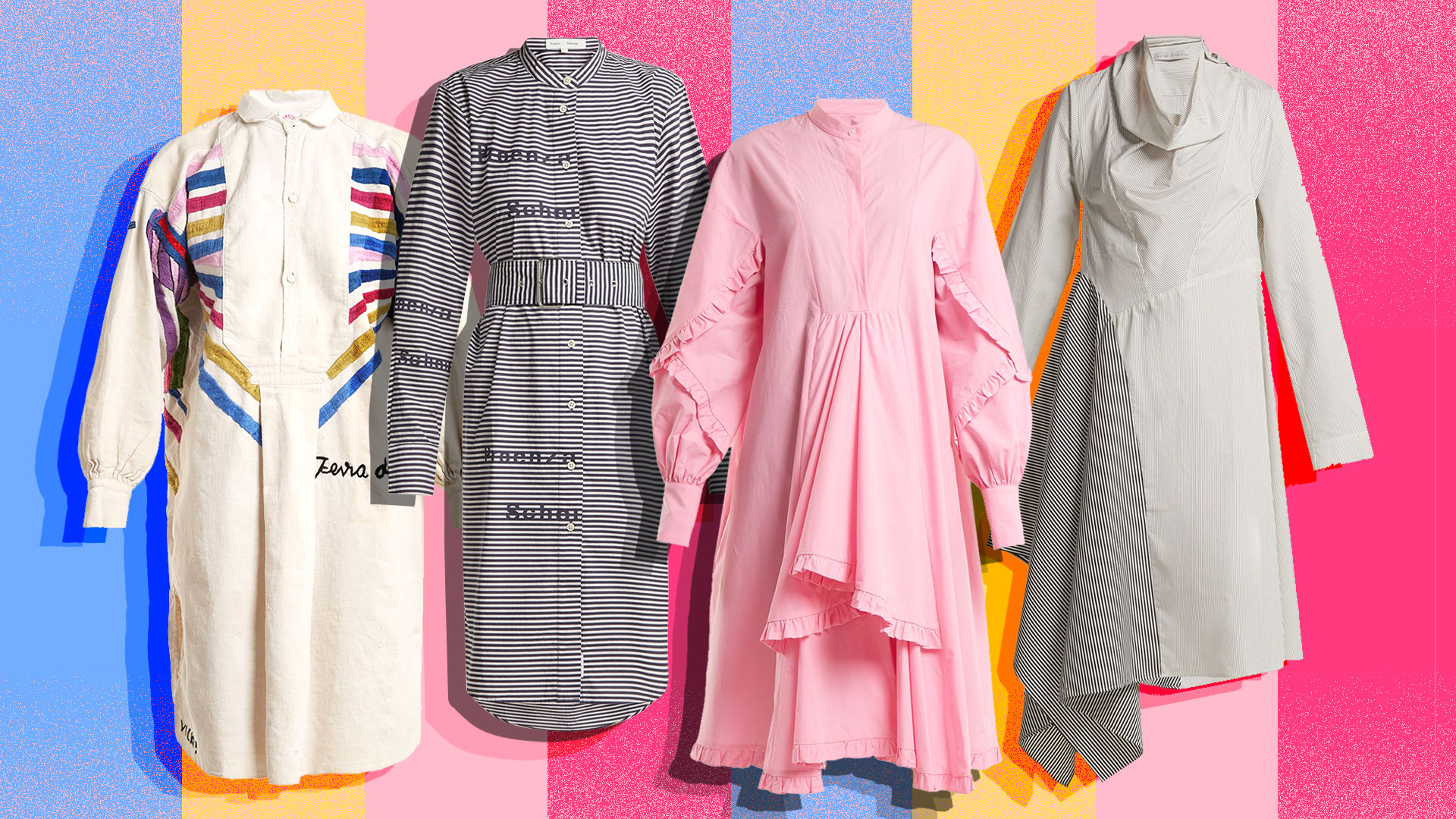 This Season's Shirtdresses Are Anything but Ordinary