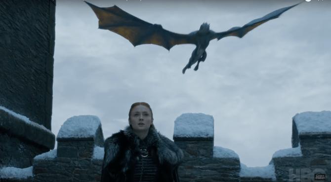got trailer sansa stark dragon 1 Theres a Theory Sansa Will Die in Game of Thrones Season 8 & Were Not OK