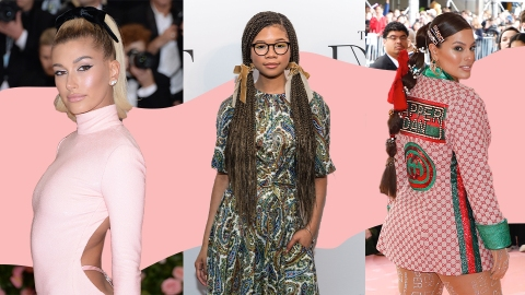 25 Celeb-Approved Ways to Wear Ribbon In Your Hair for the Holidays | StyleCaster