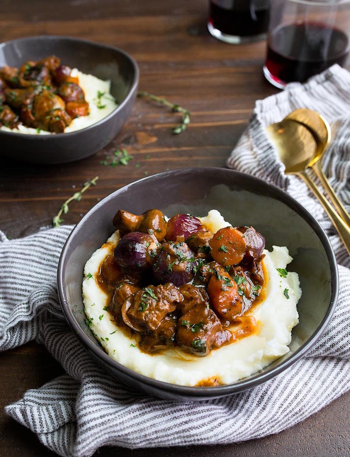 STYLECASTER | 17 Fancy Date Night Dinners That Are Actually Super Easy | Beef Bourgignon