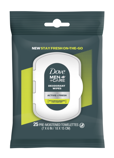 dovemencare active fresh 25ct wipes 1 Dove Created Smell Good Wipes That May Replace or Accompany Your Deodorant
