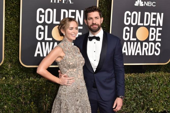 emily blunt john krasinski golden globes Emily Blunt & John Krasinski Were #CoupleGoals at the 2019 SAG Awards