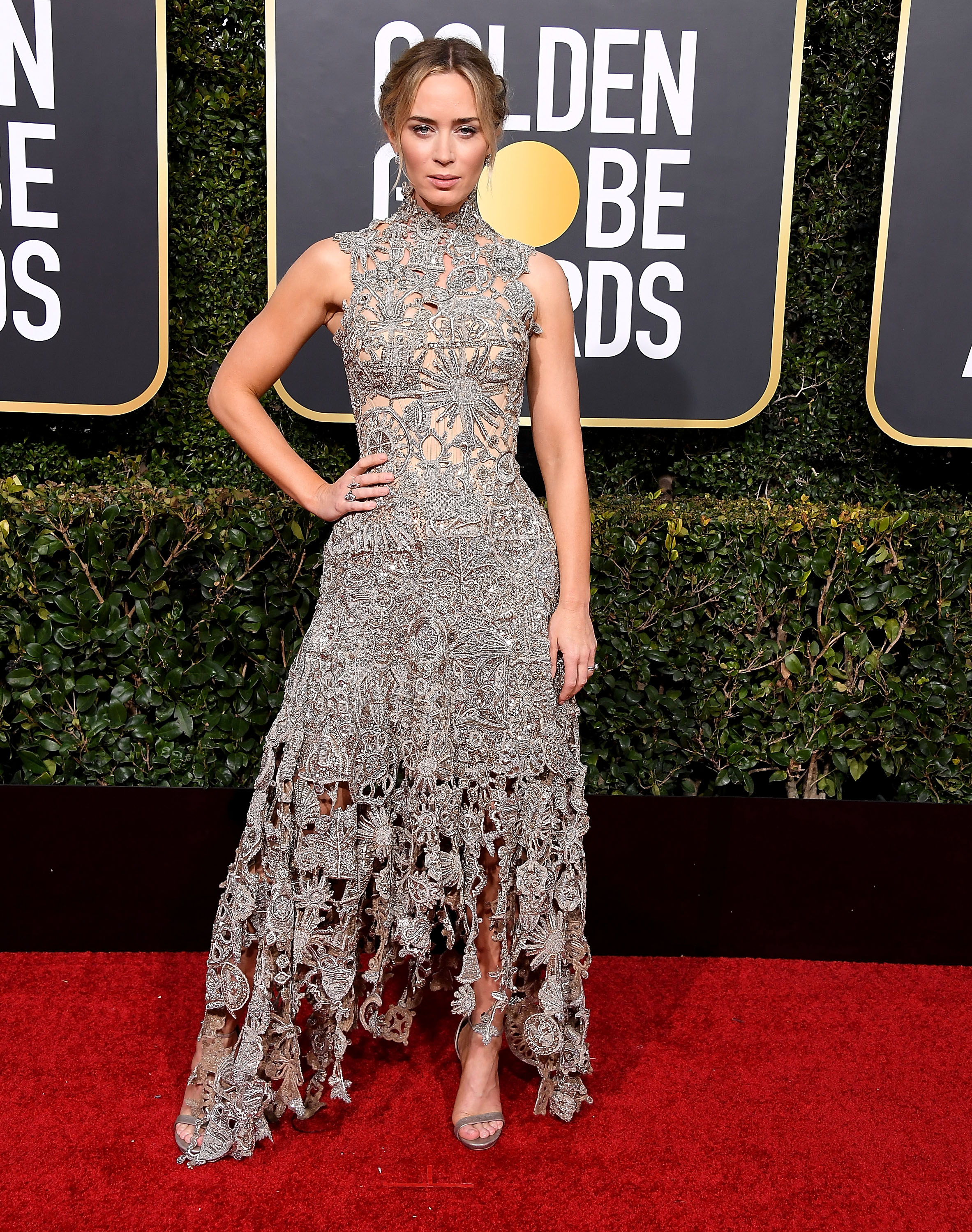 gettyimages 1078671562 Emily Blunt Makes the Case for Understated Awards Show Style at the 2019 Golden Globes