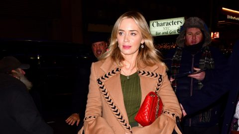 Emily Blunt's Braided Trench Coat Is Literally Cuter Than I Am   StyleCaster