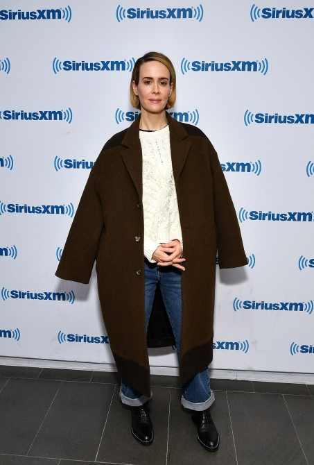gettyimages 1083375130 Sarah Paulson Wore More Iconic Coats in 2 Days Than We Have in a Lifetime
