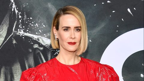 Sarah Paulson Wore a Puffy-Sleeve Red Dress, and Now I Want One, Too | StyleCaster