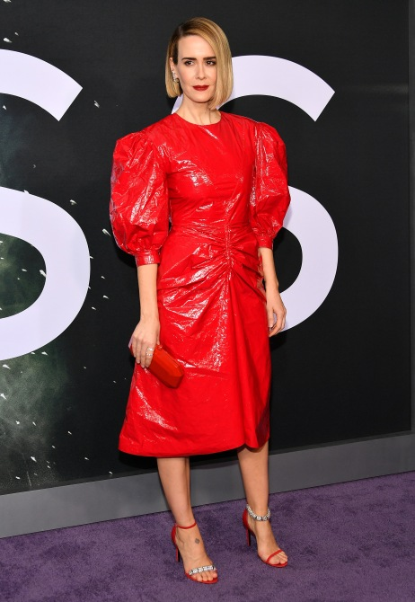 gettyimages 1094724698 Sarah Paulson Wore a Puffy Sleeve Red Dress, and Now I Want One, Too