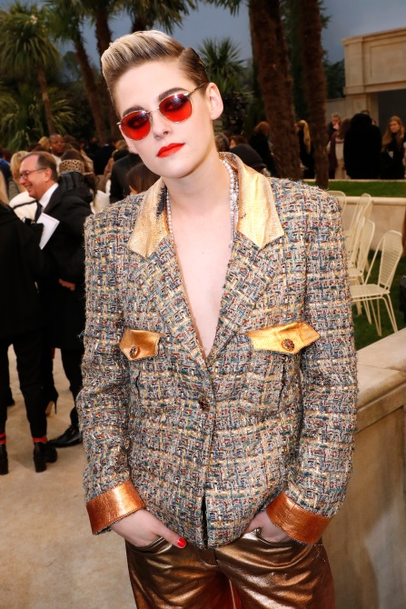 gettyimages 1097834600 Of Course Kristen Stewarts Monochrome Fashion Beauty Hybrid is Flawless