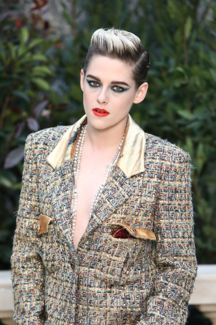 gettyimages 1097987396 Of Course Kristen Stewarts Monochrome Fashion Beauty Hybrid is Flawless