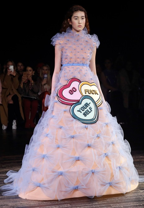 gettyimages 1098421152 Viktor & Rolf's Paris Couture Show Was Basically Just a Bunch of Memes