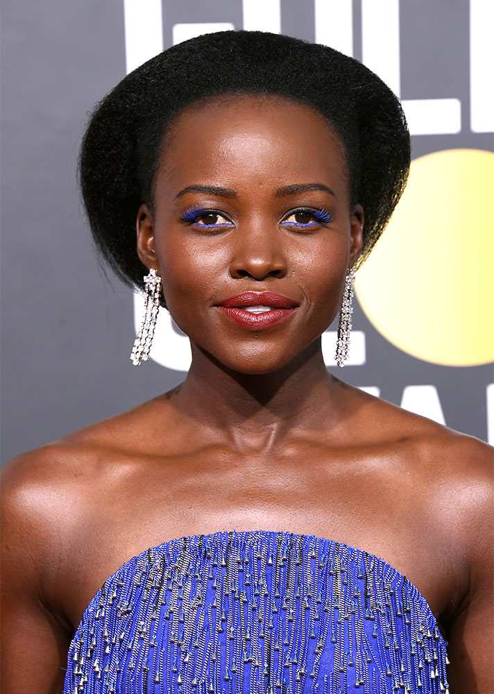 golden globes 32 The Hidden Detail You Probably Missed in Lupita Nyongos Golden Globes Hairstyle