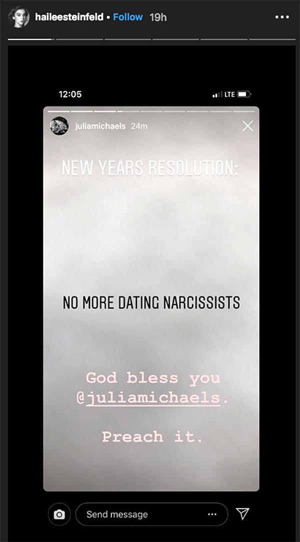 hailee steinfeld Did Hailee Steinfeld Shade Ex Niall Horan on Instagram? Heres Her Response