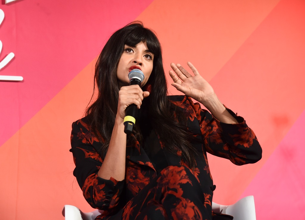 jameela jamil 1 Jameela Jamil Responds to Critics Who Say Shes Too Slim to Fight for Body Positivity