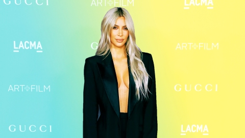 Kim Kardashian Wore Full-Body Tights and We Weirdly Don't Hate It | StyleCaster