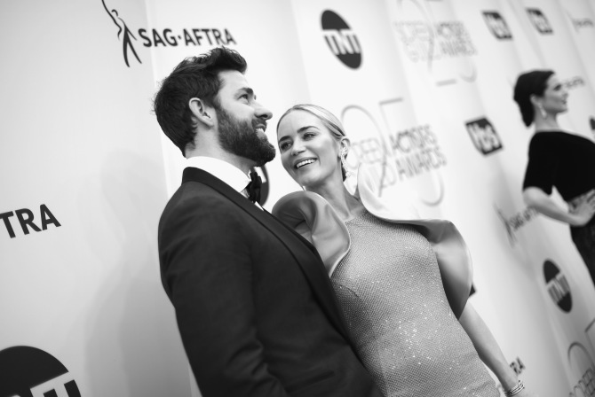 krasinski blunt 2019 sag awards Emily Blunt & John Krasinski Were #CoupleGoals at the 2019 SAG Awards
