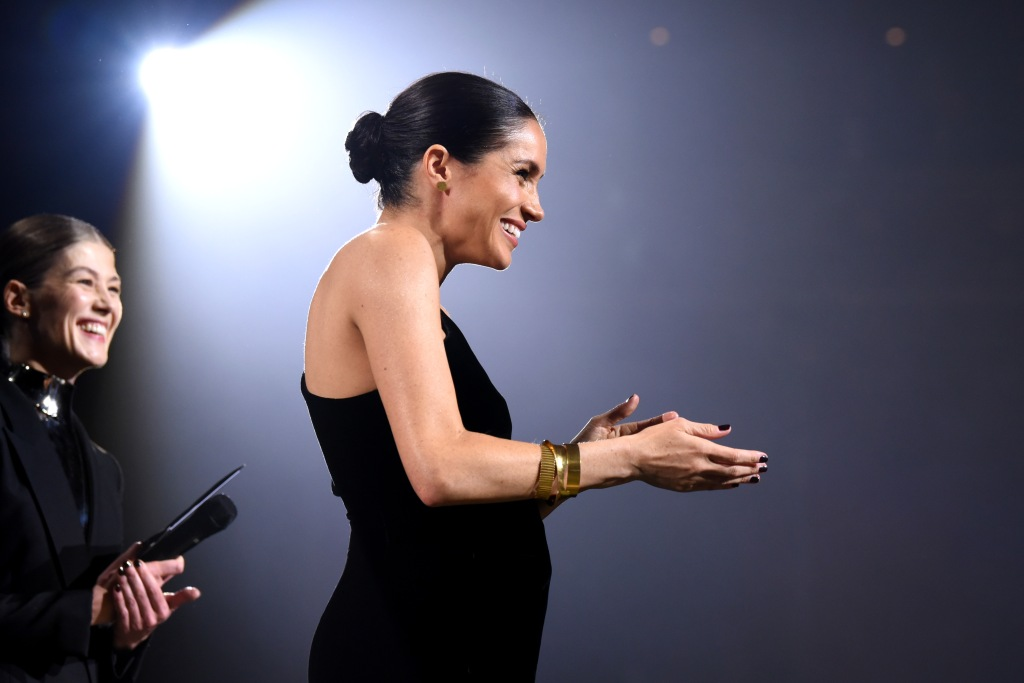 Meghan markle British fashion awards nail polish