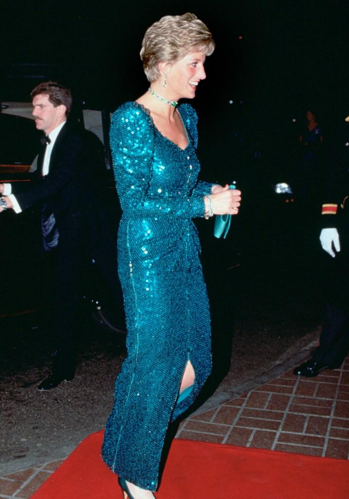 princess Diana diamond ball sparkle 1990
