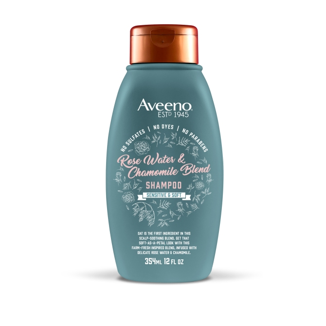 rosewater shampoo 12oz You Can Buy Farm to Table Hair Care in the Drugstore, Thanks to Aveeno