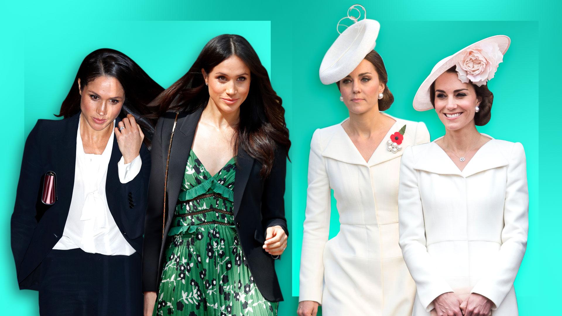 meghan markle kate middleton fashion royals rewearing clothes stylecaster meghan markle kate middleton fashion